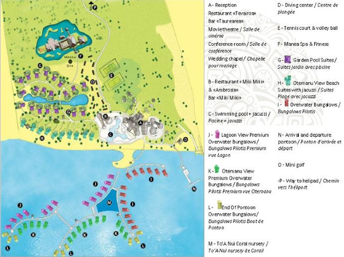 Bora Bora Pearl Beach Resort and Spa Resort Layout