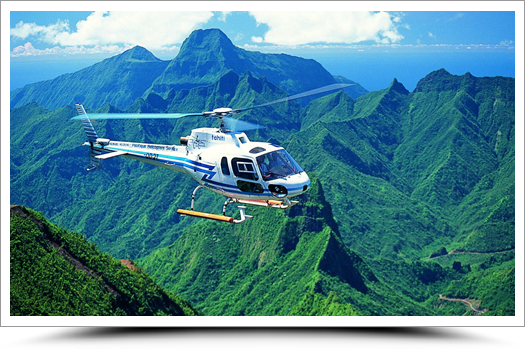 Scenic helicopter flight