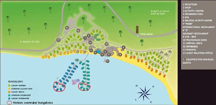 Sofitel Moorea la Ora Beach Resort Layout