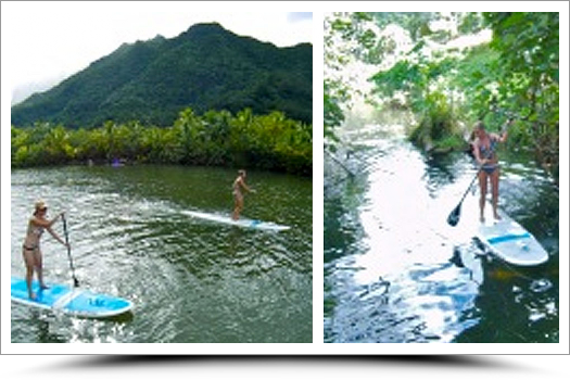 Stand Up Paddle Board on Faaroa River