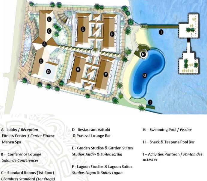 Manava Suites Resort Tahiti Resort Layout
