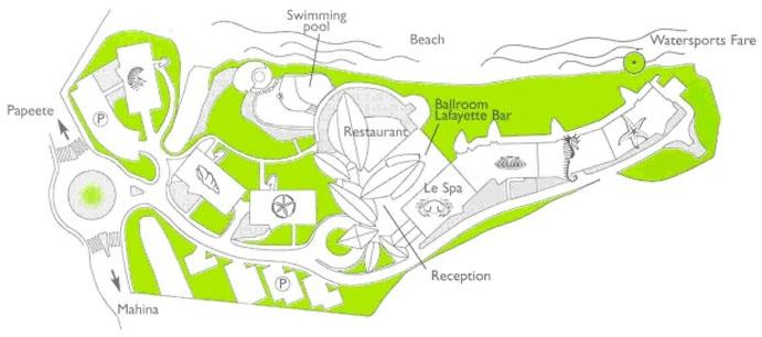 Tahiti Pearl Beach Resort Layout