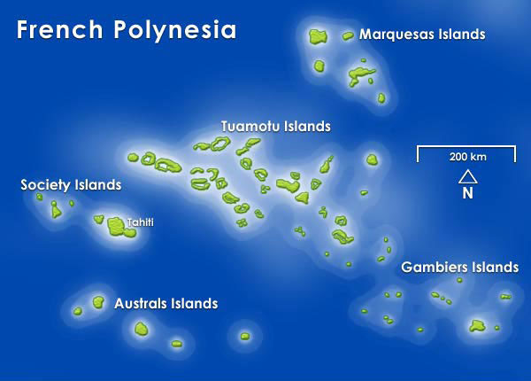 Tahiti island map