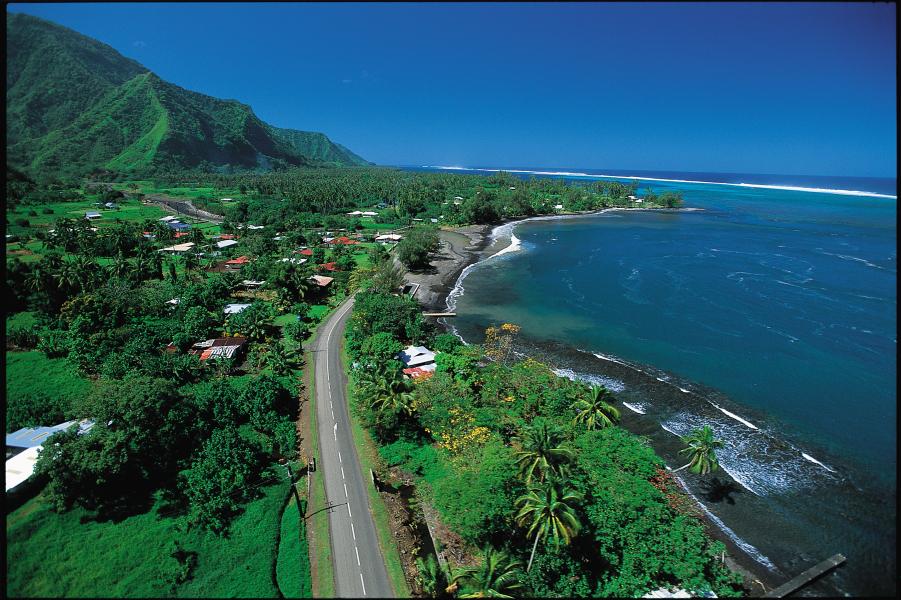 Lush island of Tahiti