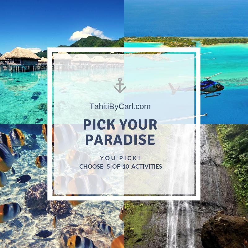 Pick your paradise promotion