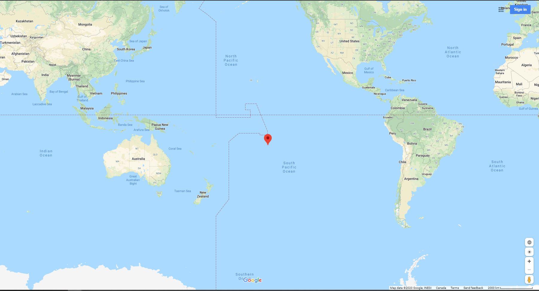 Google Map of French Polynesia