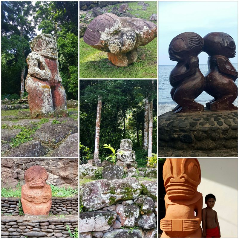 Stone Carvings in the Marquesas Islands