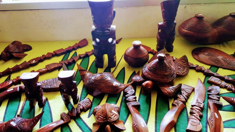 Wood Carvings for Sale in the Marquesas