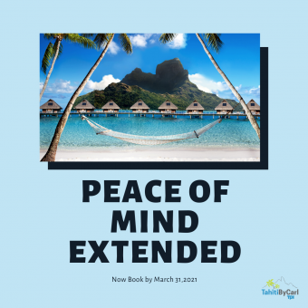 Peace of Mind Booking Policy Extended to March 31 2021