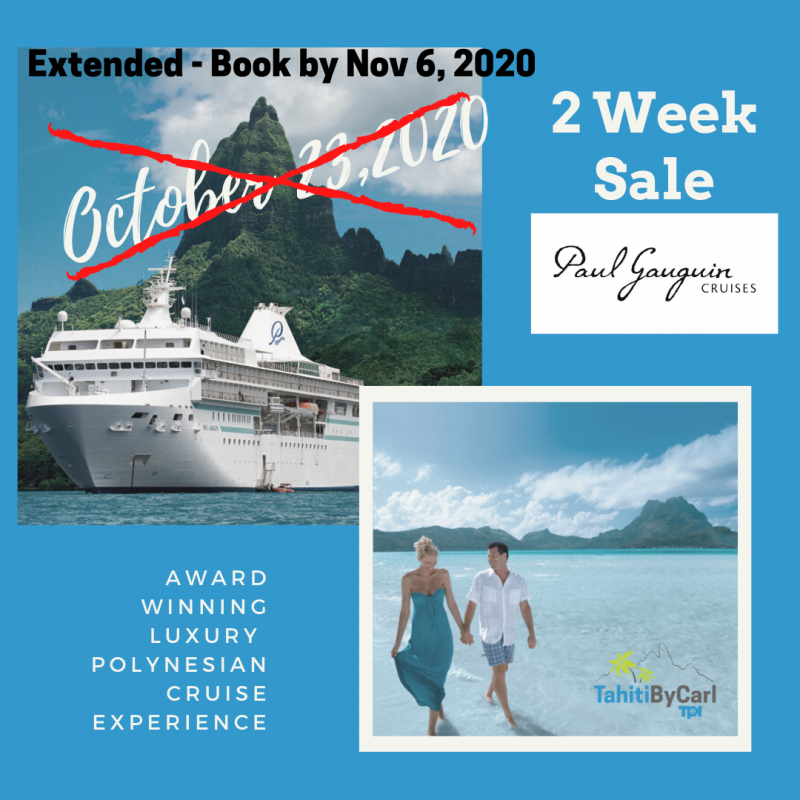 Paul Gauguin cruise sale extended