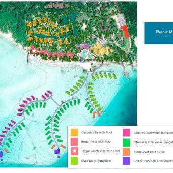le Bora Bora Resort Layout Map